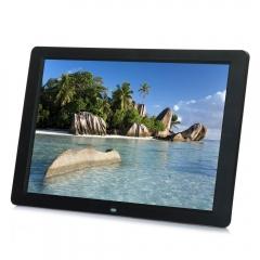 "Allwinner C100 15"" Widescreen LED 1280*800 HD Digital Photo Frame Black With RC UK Plug black one size"