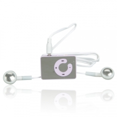 Mini USB C Clip MP3 Music Player Support 8GB SD TF Card with Free Earphone purple