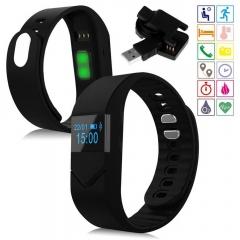 Pro M5 Blood Pressure Oxygen Smart Bluetooth Sport Heart Rate Bracelet black one size