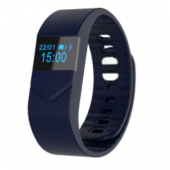 M5 Smart Bluetooth Bracelet Sport Heart Rate Wristband for Android IOS dark blue one size