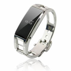 Bluetooth Smart Bracelet Wrist Pedometer Watch Phone for Android IOS Cell Phone silver one size
