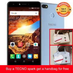 TECNO Spark K7 get a handbag for free ,16+1GB, 13+5MP, 5.5 Inch, Hios 2.1, 3000mAh, Smartphone Blue