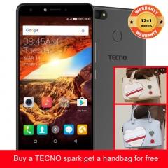 TECNO Spark K7 get a handbag for free ,16+1GB, 13+5MP, 5.5 Inch, Hios 2.1, 3000mAh, Smartphone Black