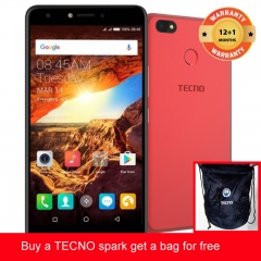TECNO Spark K7 get a bag for free ,16+1GB, 13+5MP, 5.5 Inch, Hios 2.1, 3000mAh, Smartphone Red
