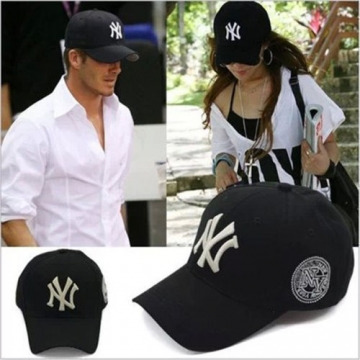 Unisex New York Baseball Cap Adjustable Strapback Hat Black Adjustable