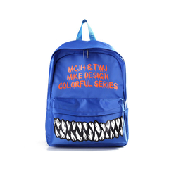 Toofn Handbag Fashion Funny Teeth Backpack schoolbag Blue