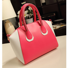Women's New Fashion Design PU Leather Handbags D206 Pink