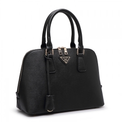 TOOFN Handbag New Style Leather Shell Bag Black F