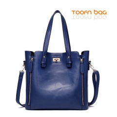 Women 2 Piece Lash Packages Big Shoulder bag Casual Handbag Blue