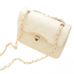 Toofn Handbag New Brand Plaid Chain Belt Fashion Shoulder bags off-white