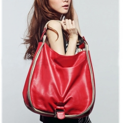 Toofn Handbag Crossbody Tote Bag,Sling Shoulder Bag Red F