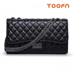 Christmas Gift Toofn Handbag The Classic and Grace Single Shoulder Handbag Black Small