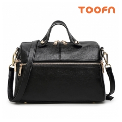 Toofn Handbag Multifunctional Women Tote Bags,Crossbody Bag Black F