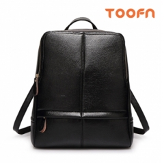Toofn Handbag Leisure PU Leather Backpack,School Bag Packback Black F