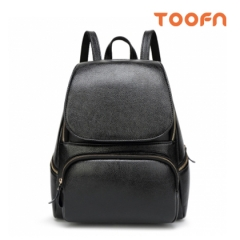 Toofn Handbag Casual Girls Backpack Bag Black F