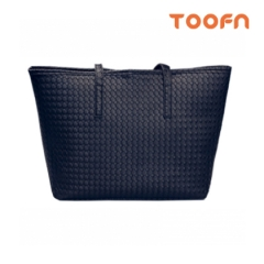 Toofn Handbag Tote Shoulder Bag Women Black F