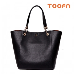 Toofn Handbag Shoulder Bag Big Size for Ladies,Women Tote Bag Black F