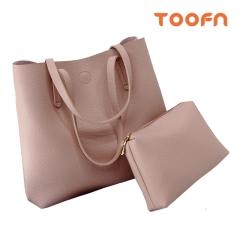 Toofn Handbag PU Leather Shoulder Bag,Women Bags Pink F