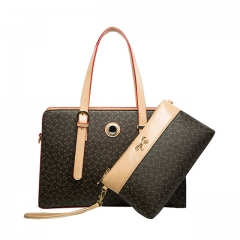 Toofn Handbag The New Composite Package Fashion Printing Handbag Coffee F