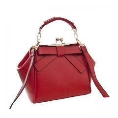 Toofn Handbag Bowknot Handbag Shoulder Crossbody Bag Red F