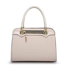 Toofn Handbag Ladies Diana Package Crocodile Fashion Handbag Shoulder Bag White F