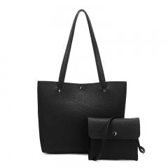 Toofn Handbag Elegant Women Tote Bags,Hand Bag black f