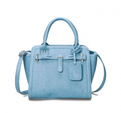 Toofn Handbag  Ladies Designer Leather Style Celebrity Tote Bag Handbag Blue F