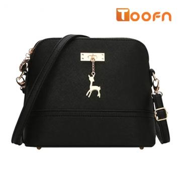 Toofn Handbag New pattern lovely deer shell bag Black F