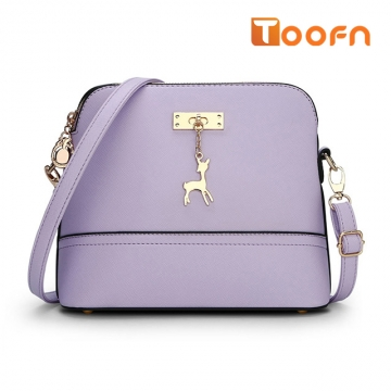 Toofn Handbag New pattern lovely deer shell bag Purple F