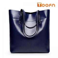 Toofn Handbag Bigsize Fashion Tote Bags,Shopping Bag Blue F