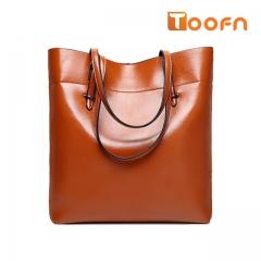 Toofn Handbag Bigsize Fashion Tote Bags,Shopping Bag Brown F