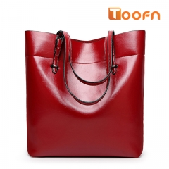 Toofn Handbag Bigsize Fashion Tote Bags,Shopping Bag Red F