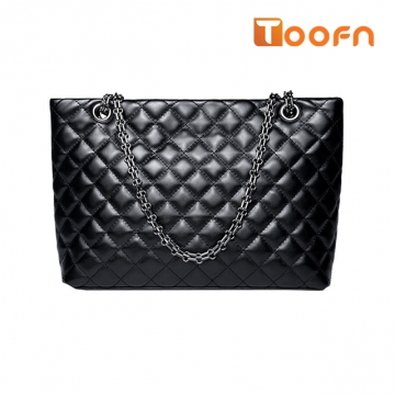 Toofn Handbag New Fashion Elegant Lozenge Shoulder Bag