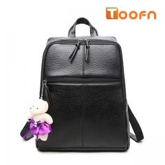Toofn Handbag PU Leather Backpack for Ladies,Female Backpacks Black F