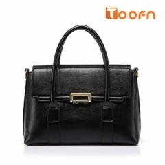 Toofn Handbag Crossbody Shoulder Bag,Top Handle Hand Bag for Women Black F