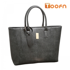 Toofn Handbag Crocodile Leather Ladies Handbag,Satchel Bag Gray F
