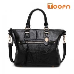 Toofn Handbag Five Colors Stylish Single Shoulder Bag black f