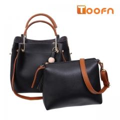 Toofn Handbag Multifunctional Composite Bag,Single Shoulder Bag black f