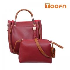 Toofn Handbag Multifunctional Composite Bag,Single Shoulder Bag red f
