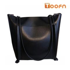 Toofn Handbag 3 colors Elegant Big Tote Bag,Women Shoulder Bag black f