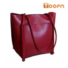 Toofn Handbag 3 colors Elegant Big Tote Bag,Women Shoulder Bag red f