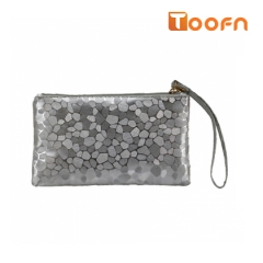 Toofn Handbag Stylish Ladies Clutch Wallets gray f