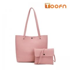 Toofn Handbag Elegant Women Tote Bags,Hand Bag pink f