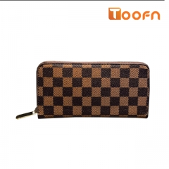 Toofn Handbag Ladies Wallet Purse,Clutch Purse Brown f