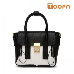 Toofn Handbag Crossbody Bag for Girl,Single Shoulder Bag white f