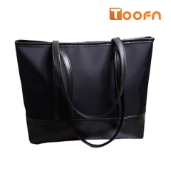 Toofn Handbag Waterproof Shoulder Bag,Portable Bag for Women black f