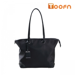 Toofn Handbag New Design Nylon Waterproof Shoulder Bag for Women black f