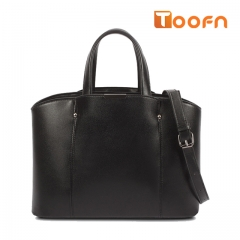 Toofn Handbag Classic Design Fashion Lady Big Tote Bag black f