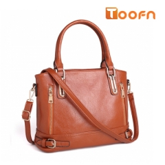 Toofn Handbag High Quality All-match Lady Messenger Bag brown f
