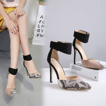 X000295 Fashion High Heels Newest Women Pumps Summer Women Shoes Comfortable Shoes Woman black 40